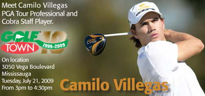Camilo Will be at Golf Town (Mississauga) on July 21, 2009